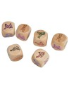 6 Sexual fantasy wooden dice for couple