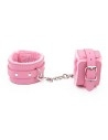 Eco-leather cuffs in three colors pink / black / red