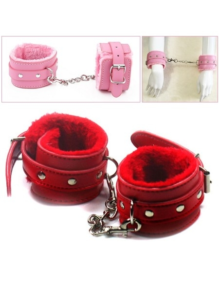 Upholstered faux leather cuffs, submissive Slave Bondage Fetish